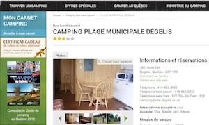 Camping Municipal Ville Dégelis - Bas-Saint-Laurent, Dégelis