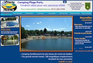 Camping Plage Paris - -Centre-du-Québec-, Sainte-Sophie-de-Lévrard