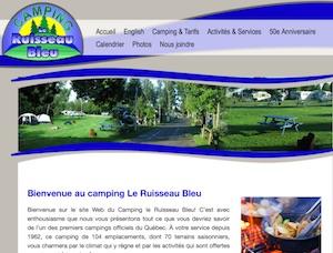 Camping du Ruisseau Bleu - Chaudière-Appalaches, Saint-Lambert-de-Lauzon (Beauce)