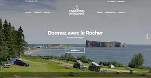Camping Côte Surprise - Gaspésie, Percé