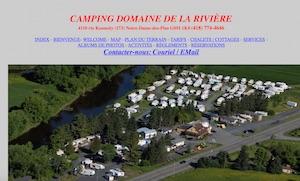 Camping Domaine de la rivière - Chaudière-Appalaches, Notre-Dame-des-Pins (Beauce)