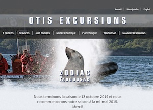 Otis Excursions (Excursion baleine) - Côte-Nord / Manicouagan, Tadoussac