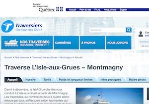 Traversier Le Grue-Des-Îles - Chaudière-Appalaches, Isle-aux-Grues (Montmagny)