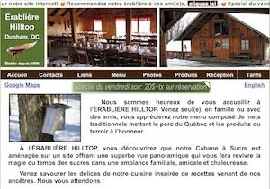 Érablière Hilltop (Cabane à Sucre) - Estrie / Canton de l'est, Dunham