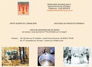 Érablière Richard Boily (Cabane à Sucre) - Capitale-Nationale, Sainte-Famille-de-l'Île-d'Orléans