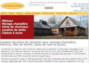 La Ferme du Terroir (Érablière) (Cabane à Sucre) - Outaouais, Val-des-Monts