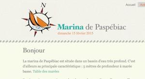 La marina de Paspébiac - Gaspésie, Paspébiac