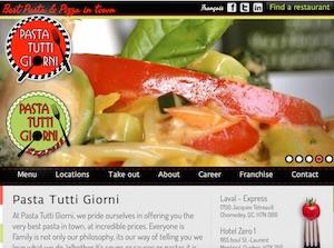Restaurant Pasta Tutti Giorni - Lanaudière, Terrebonne (Lachenaie)