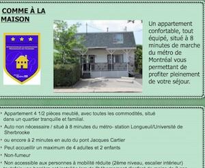 Hébergement touristique Le Héron Bleu - Montérégie, Longueuil