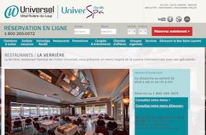 Restaurant La Verrière (Hôtel Universel) - -Centre-du-Québec-, Drummondville