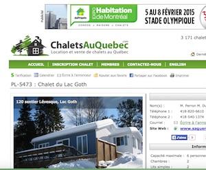 Chalet du Lac Goth - Saguenay-Lac-Saint-Jean, Saint-Félix-d'Otis (Saguenay)