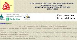 Association Chasse et Pêche Quatre Étoiles - Chaudière-Appalaches, Sainte-Rose-de-Watford (Etchemins)