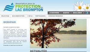 Association pour la protection du Lac Brompton - Estrie / Canton de l'est, Saint-Denis de Brompton
