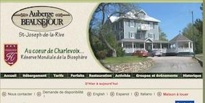 Auberge Beauséjour - Charlevoix, Les Éboulements (Saint-Joseph-de-la-Rive)