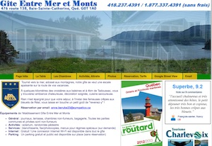 Gîte Entre Mer et Monts - Charlevoix, Baie-Sainte-Catherine