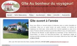 Gîte Au bonheur du Voyageur - Saguenay-Lac-Saint-Jean, Saint-Henri-de-Taillon (Lac-St-Jean)