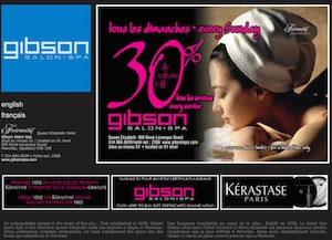 Gibson Salon Spa - Montréal, Montréal