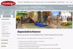 Aquaclub La Source - Laurentides, Mont-Tremblant