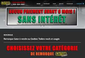 Remorque Gator - Estrie / Canton de l'est, Sherbrooke (Rock Forest–Saint-Élie–Deauville)