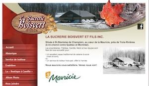 La Sucrerie Boisvert et Fils - Mauricie, Saint-Stanislas-de-Champlain