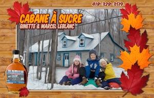 Cabane à Sucre Ginette & Marcel Leblanc - Mauricie, Saint-Prosper-de-Champlain