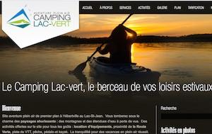 Camping Lac-vert - Saguenay-Lac-Saint-Jean, Hébertville (Lac-St-Jean)