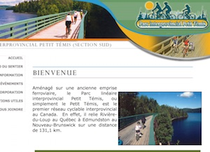 Piste cyclable Le Petit Témis section Sud - Bas-Saint-Laurent, Dégelis
