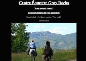 Centre équestre Gray Rocks - Laurentides, Mont-Tremblant