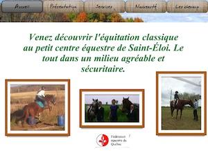 Le petit centre équestre de St-Éloi - Bas-Saint-Laurent, Saint-Éloi