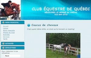 Club Équestre de Québec - Capitale-Nationale, Saint-Gabriel-de-Valcartier