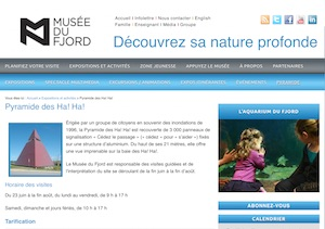 Pyramide des Ha!Ha! - Saguenay-Lac-Saint-Jean, Saguenay (Saguenay) (V) (La Baie)