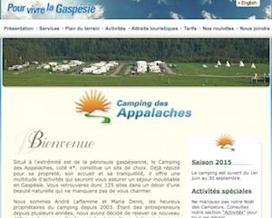 Camping des Appalaches - Gaspésie, Gaspé (Rivière-au-Renard)