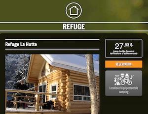 Refuge la Hutte - Capitale-Nationale, Saint-Raymond