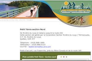 Piste cyclable Le Petit Témis section Nord - Bas-Saint-Laurent, Rivière-du-Loup (V)